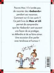 Max raconte des bobards - 4ème de couverture - Format classique