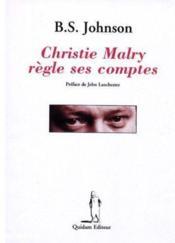 Christie Malry règle ses comptes - Couverture - Format classique