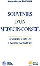 Souvenirs d'un médecin-conseil ; anecdotes d'une vie à l'écoute des victimes - Couverture - Format classique