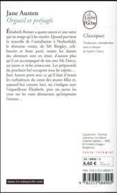 Orgueil et préjugés - 4ème de couverture - Format classique