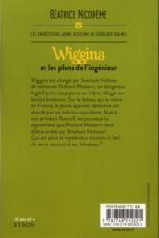 Wiggins et les plans de l'ingénieur - 4ème de couverture - Format classique