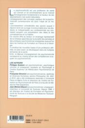 Manuel d'enseignement de psychomotricité t.1 - 4ème de couverture - Format classique