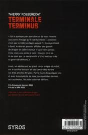 Terminale terminus - 4ème de couverture - Format classique