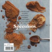 Petits plats et desserts aux spéculoos - 4ème de couverture - Format classique