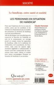 Les personnes en situation de handicap (7e. édition) - Couverture - Format classique