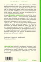 Revolution Moleculaire (La) - 4ème de couverture - Format classique