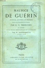 Journal, Lettres Et Poemes. - Couverture - Format classique
