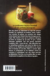 Le professeur Acarus Dumdell et ses potions incongrues - 4ème de couverture - Format classique