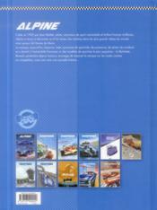 Alpine ; le sang bleu - 4ème de couverture - Format classique