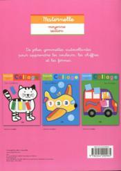 Collage ; les couleurs ; maternelle petite section - 4ème de couverture - Format classique