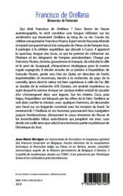 Francisco de orellana - decouvreur de l'amazone - 4ème de couverture - Format classique
