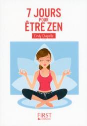 7 jours pour être zen - Couverture - Format classique