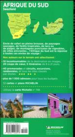 Guide vert afrique du sud - 4ème de couverture - Format classique