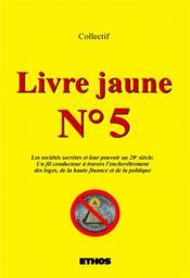 Livre jaune n°5 - Couverture - Format classique