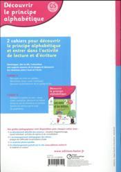 Découvrir le principe alphabétique ; cahier 1 ; les syllabes - 4ème de couverture - Format classique