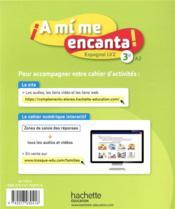 ¡a mí me encanta! ; espagnol ; 3e, LV2 ; cahier d'activités (édition 2020) - 4ème de couverture - Format classique