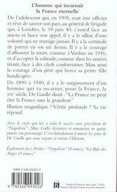 De Gaulle T.1 ; l'appel du destin - 4ème de couverture - Format classique