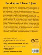 Sketches A Lire Et A Jouer - 4ème de couverture - Format classique