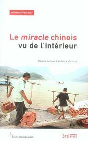 Le miracle chinois vu de l'interieur - Intérieur - Format classique