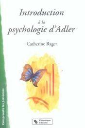 Introduction a la psychologie individuelle d'alfred adler inferiorite et volonte de puissance - Intérieur - Format classique