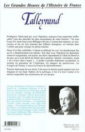 Talleyrand Br - 4ème de couverture - Format classique