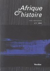 Afrique Et Histoire N.1 (édition 2003) - Intérieur - Format classique