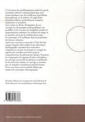 Enjeux de la sociologie urbaine - 4ème de couverture - Format classique