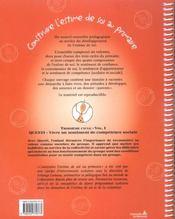 Construire l'estime de soi a l'ecole primaire c3-v1 : questi vivre un sentiment de competence social - 4ème de couverture - Format classique