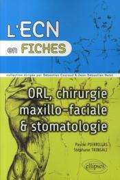 Fiches ORL-stomatologie - Couverture - Format classique