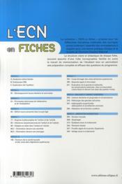 Fiches ORL-stomatologie - 4ème de couverture - Format classique