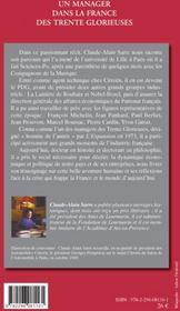 Un manager dans la France des trente glorieuses ; le plaisir d'être utile - 4ème de couverture - Format classique