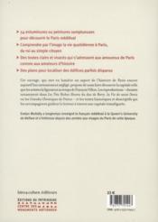 Guide de Paris au Moyen Age - 4ème de couverture - Format classique