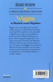 Wiggins et Sherlock contre Napoléon - 4ème de couverture - Format classique