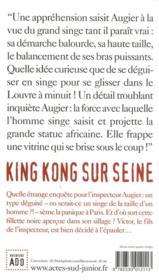 King Kong sur Seine - 4ème de couverture - Format classique