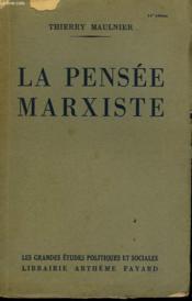 La Pensee Marxiste. - Couverture - Format classique