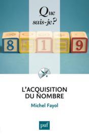 L'acquisition du nombre (2e édition) - Couverture - Format classique