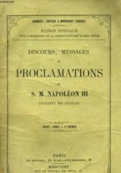DISCOURS, MESSAGES ET PROCLAMATIONS DE S. M. NAPOLEON III, empereur des français (1848-1860-1er série) - Couverture - Format classique