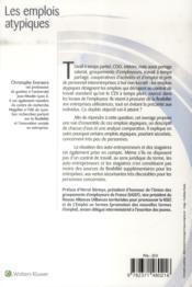 Les emplois atypiques - 4ème de couverture - Format classique
