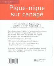 Pique-Nique Sur Canape - 4ème de couverture - Format classique