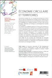 Economie circulaire et territoires - 4ème de couverture - Format classique