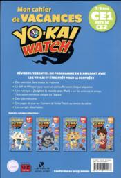 Mon cahier de vacances Yo-kai watch ; CE1 vers le CE2 - 4ème de couverture - Format classique