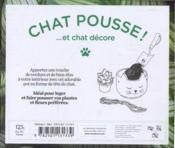 Coffret chat pousse et chat décore - 4ème de couverture - Format classique