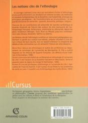 Notions Cles De L'Ethnologie ; 2e Edition - Couverture - Format classique