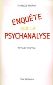 Enquete Sur La Psychanalyse - Couverture - Format classique