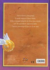 Harry Potter ; Vol Au-Dessus De Poudlard ; Livre D'Autocollants - 4ème de couverture - Format classique