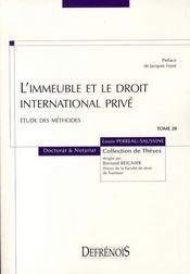 L'immeuble et le droit international privé - Intérieur - Format classique
