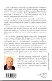 Fachoda - 4ème de couverture - Format classique
