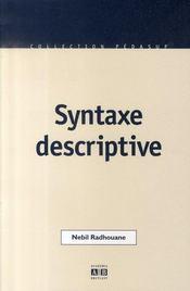Syntaxe descriptive - Intérieur - Format classique