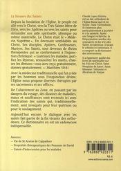 Le secours de saints - 4ème de couverture - Format classique