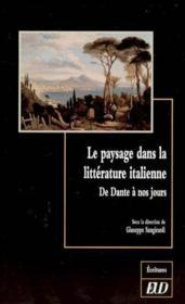 Paysage dans la litterature italienne. de dante a nos jours - Couverture - Format classique